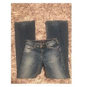 Silver Pica Women's Flare Leg Jeans